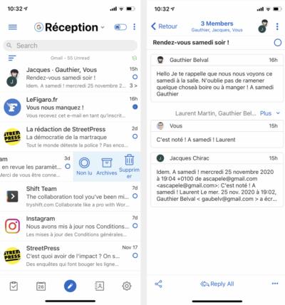 BlueMail pour iOS